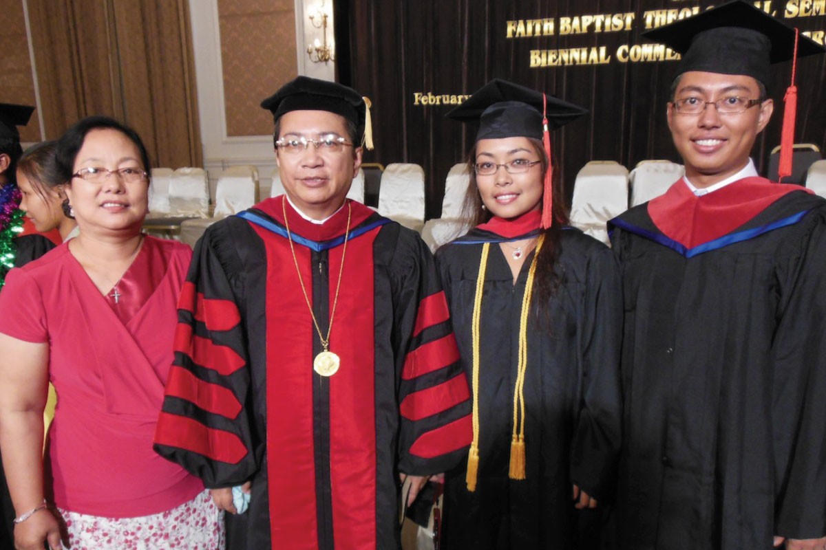 Dr. Mung and his wife and two eldest children