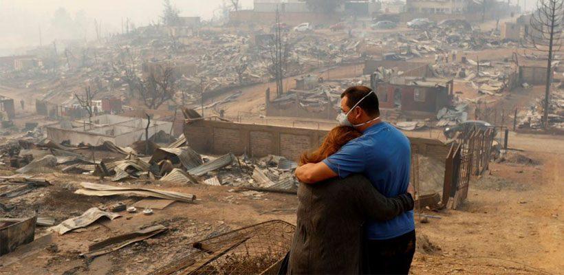 Chile fire destruction 2017