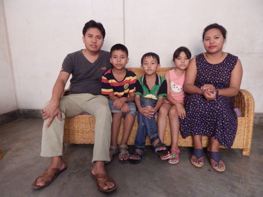 Rev. Throngji and his family