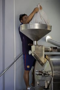 Putting in the beans