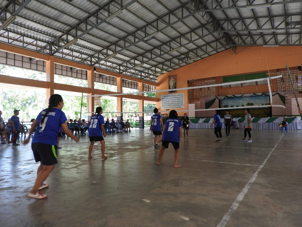 Women's volleyball at the games day