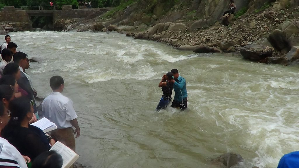baptisms in a rushing river