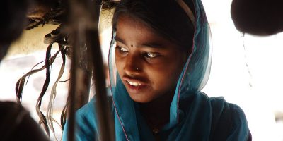 Rescued girl transformed