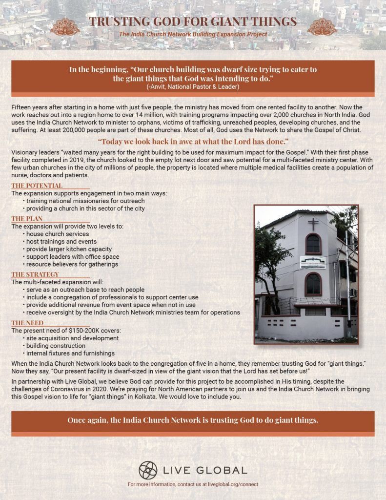 Kolkata Christian Fellowship One Sheet