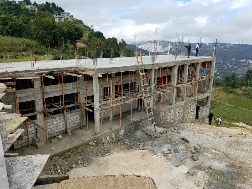 the school under construction